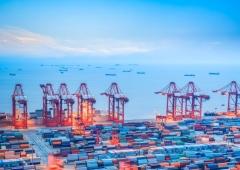 контейнерный терминал, шанхай