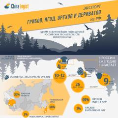 Экспорт грибов, ягод, орехов и дериватов из РФ