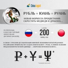 Рубль + юань = руань