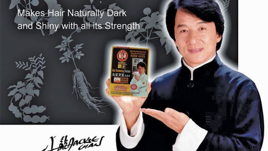 джеки чан, реклама, средство от облысения