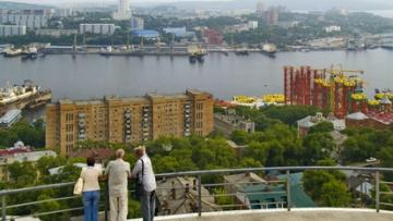 панорама владивосток, порт владивосток, владивосток бухта фото
