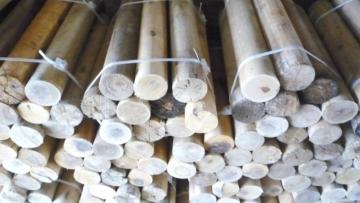 Дрова оцилиндрованные берёзовые в вязанках премиум эко